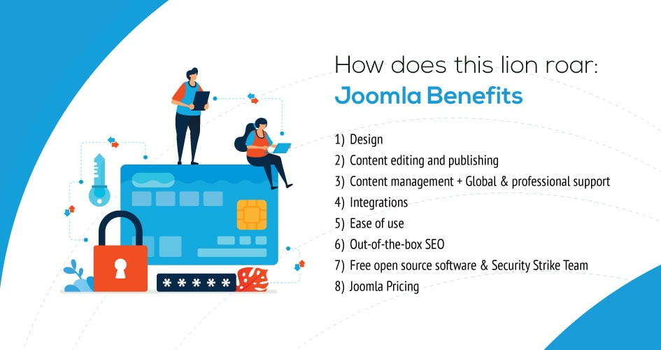 How does this lion roar: Joomla Benefits